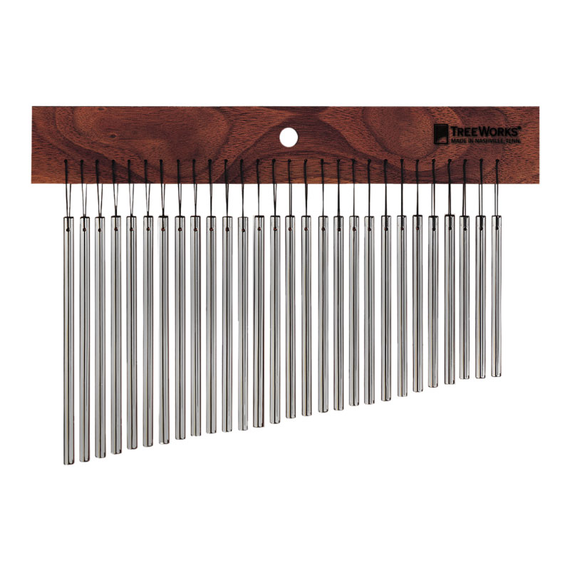 Treeworks Thin 28-Bar Single Row Wind Chimes