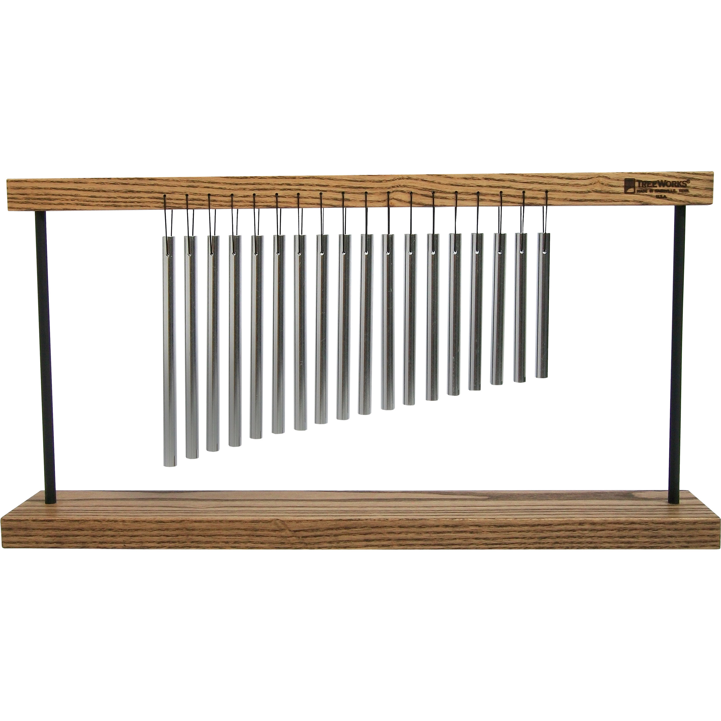 TreeWorks Table Top Chimes on Wooden Stand