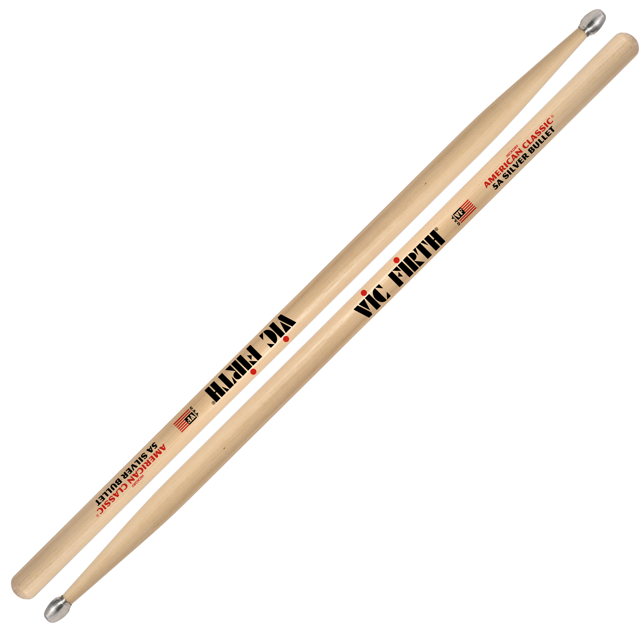 vic firth american classic silver bullet 5a drumsticks 5asb. Black Bedroom Furniture Sets. Home Design Ideas