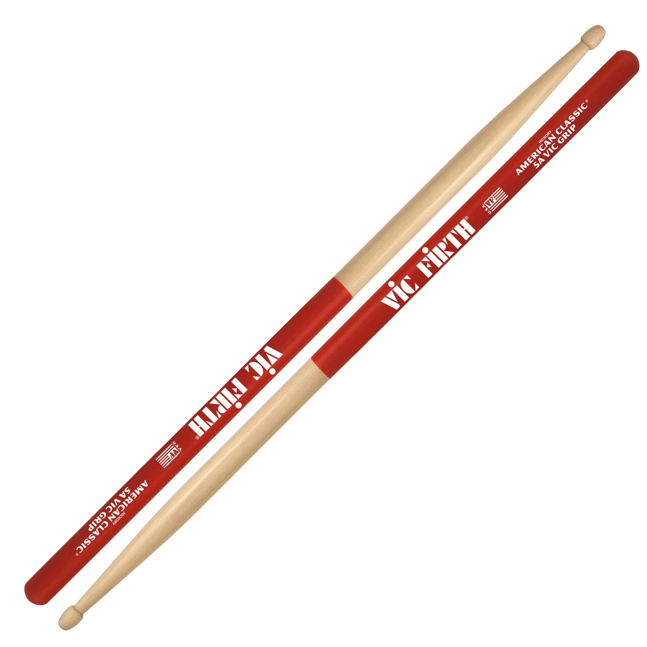 vic firth american classic vic grip 5a drumsticks 5avg. Black Bedroom Furniture Sets. Home Design Ideas