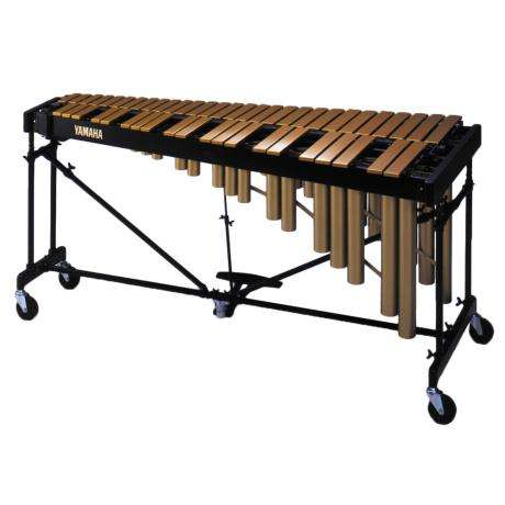 Yamaha 4 Oct Gold Orchestral Vibraphone with cover