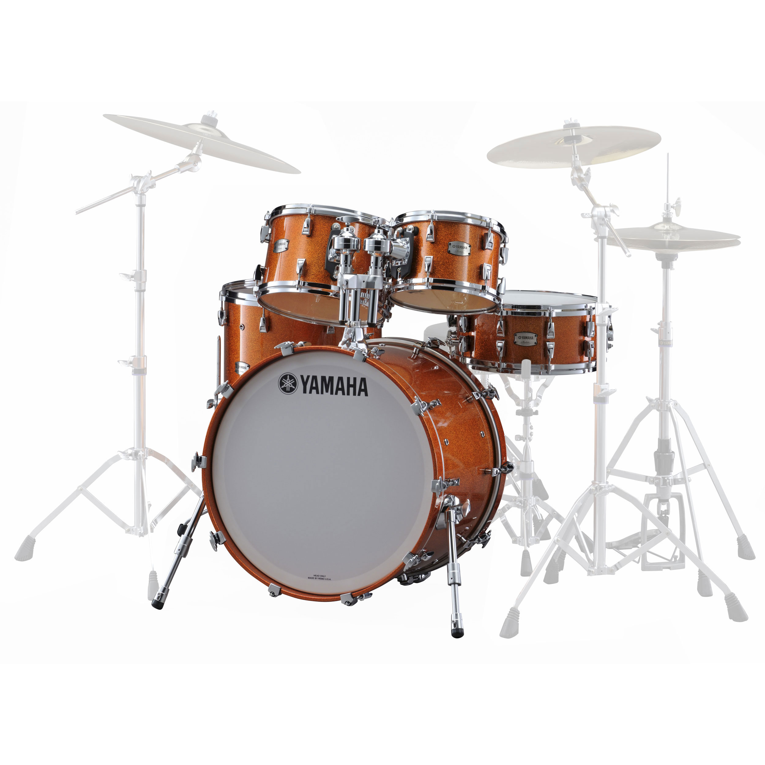 Alternate image for yamaha absolute hybrid maple 5 piece for Yamaha bass drum decal