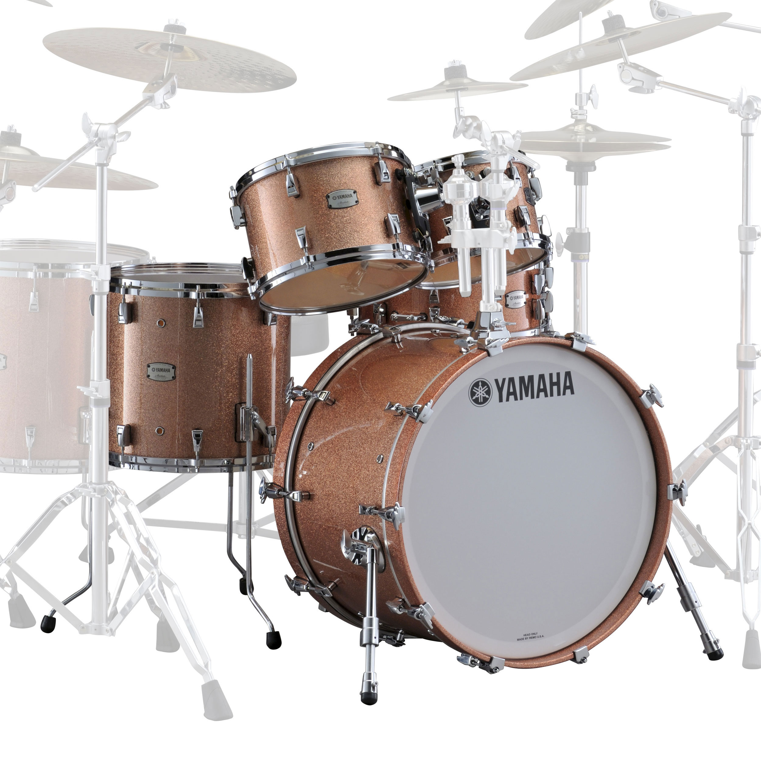 Yamaha absolute hybrid maple 5 piece drum set shell pack for Yamaha dtx450k 5 piece electronic drum kit