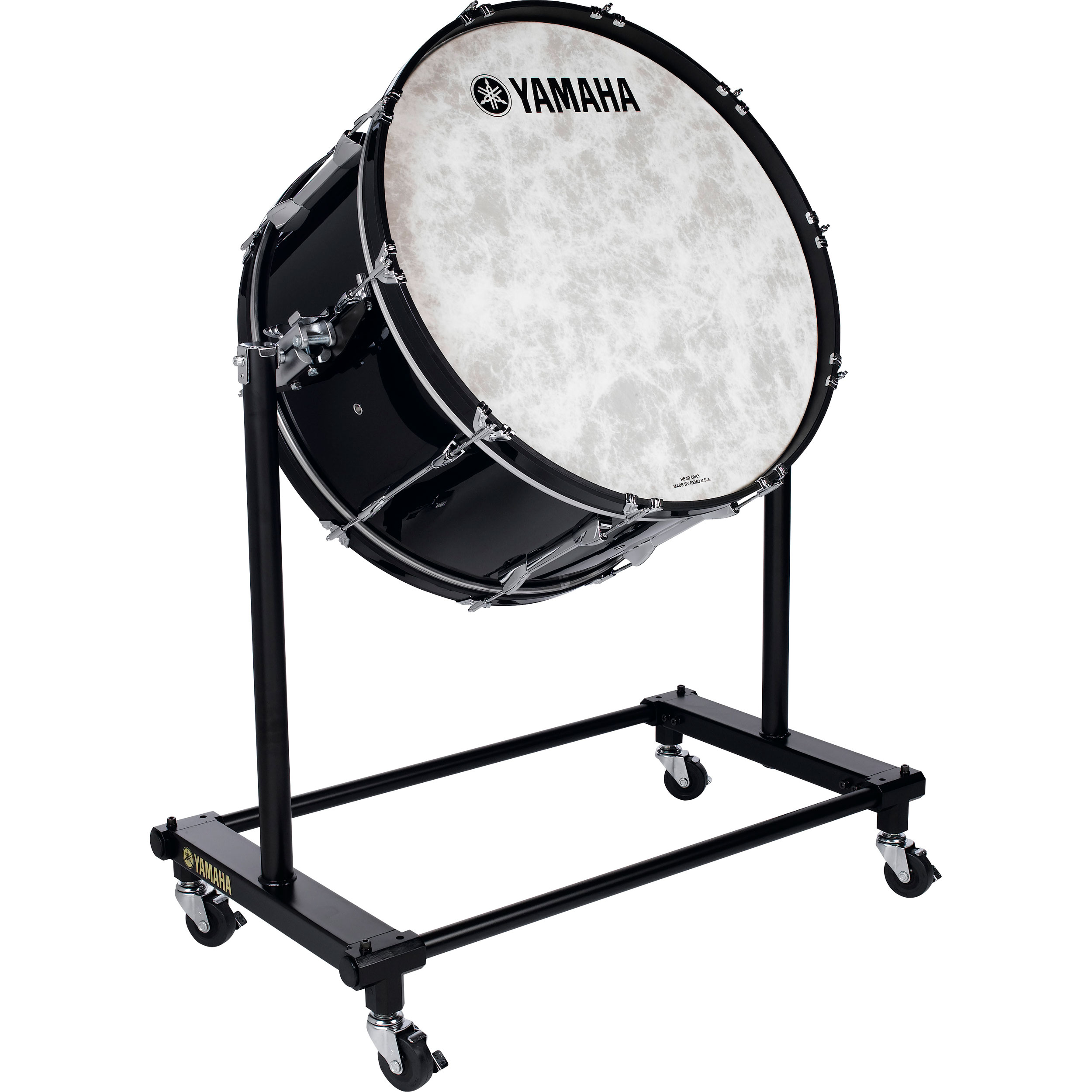 "Yamaha 36"" (Diameter) x 22"" (Deep) 9000 Professional Series Maple Concert Bass Drum in Dark Wood Stain with Stand"