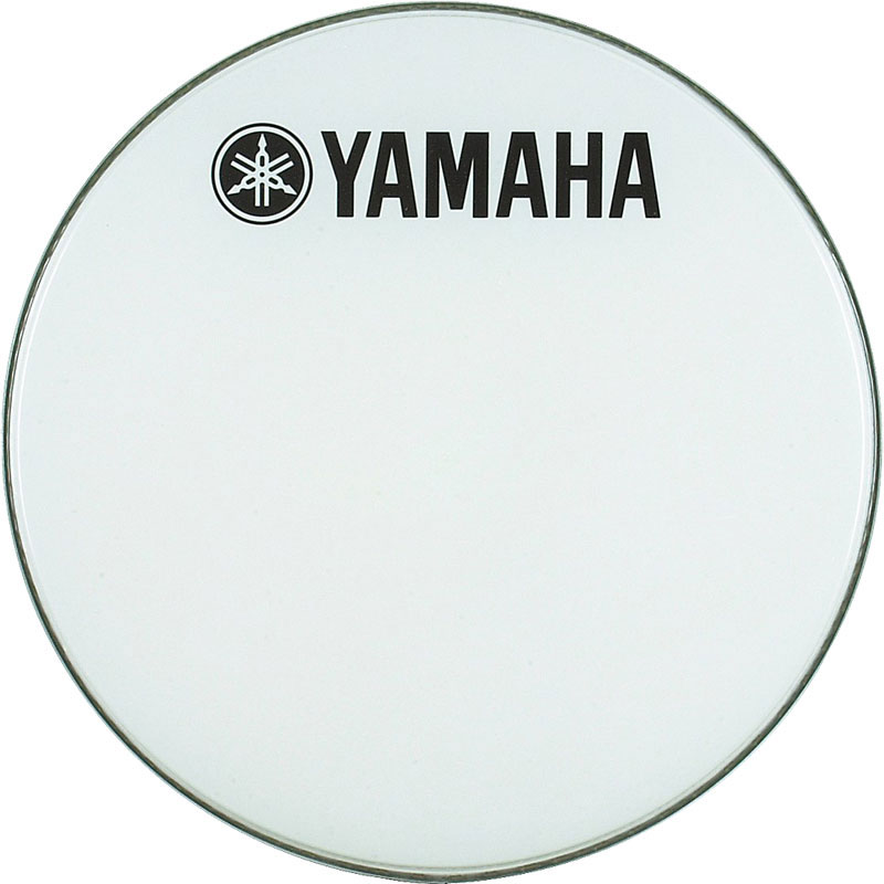 "Yamaha 18"" Smooth White Ambassador Marching Bass Head"