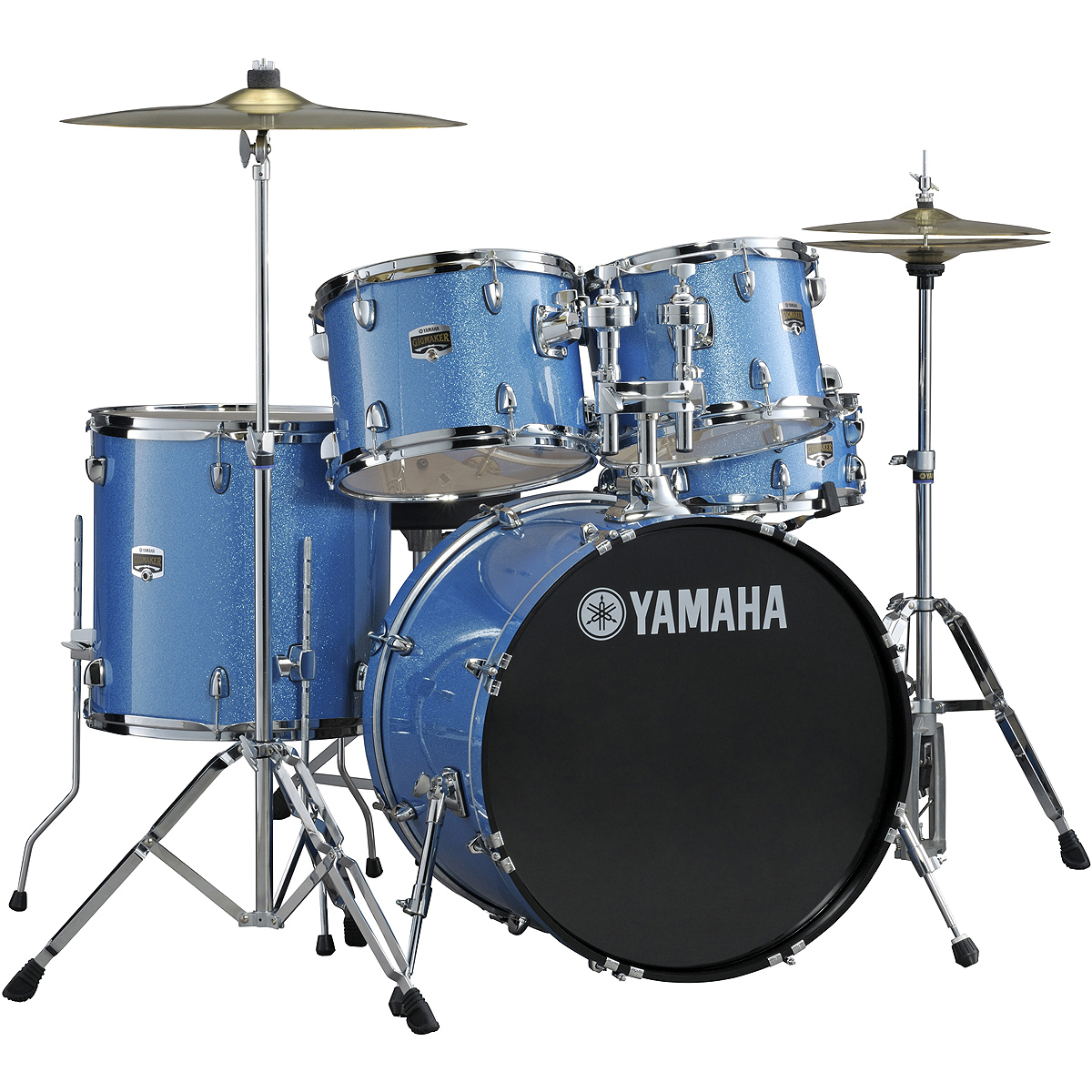 yamaha gigmaker 5 piece drum set with hardware wuhan cymbals 22 bass 12 13 16 toms 14 snare. Black Bedroom Furniture Sets. Home Design Ideas