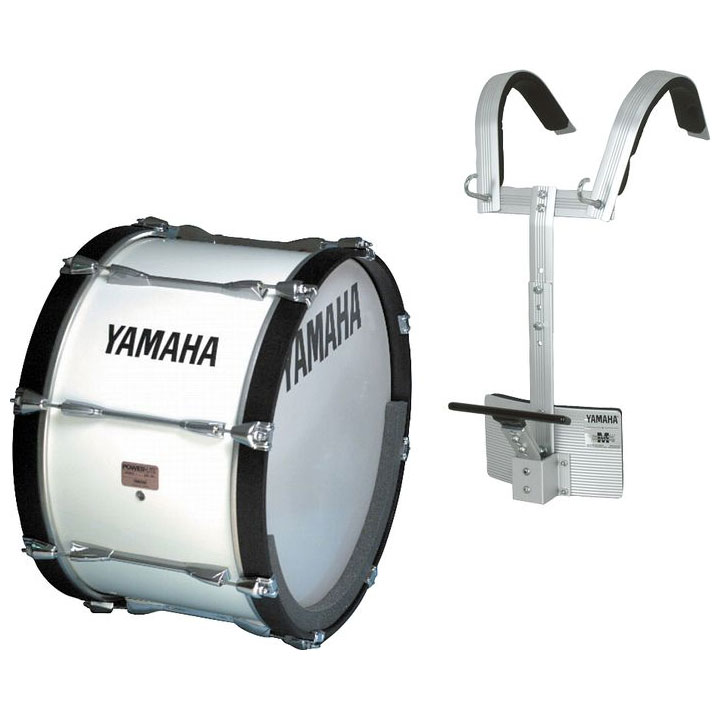 "Yamaha 28"" Power-Lite Drum/Carrier Marching Bass Drum Bundle"