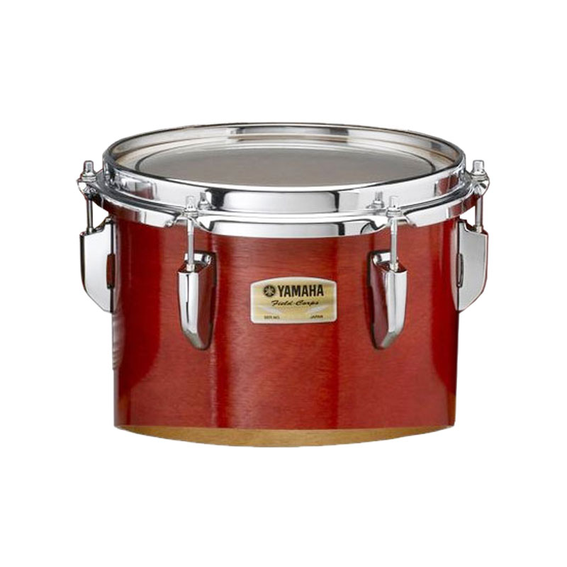 "Yamaha 10"" 8200 Field-Corps Individual Marching Tenor Drum in Red Forest (Used)"