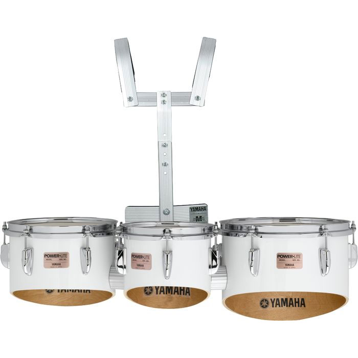 """Yamaha 8-10-12"""" Power-Lite Drums/Carrier Marching Tenor Bundle"""