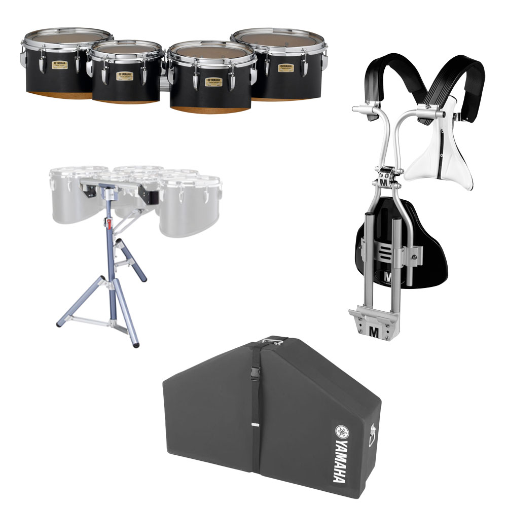 "Yamaha 10-12-13-14"" 8300 Field-Corps Marching Tenors with BiPosto Carrier, Case, and Stand"