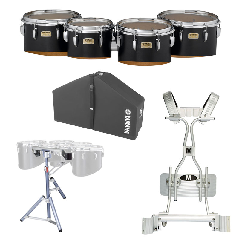"Yamaha 10-12-13-14"" 8300 Field-Corps Marching Tenors with Tube Carrier, Case, and Stand"