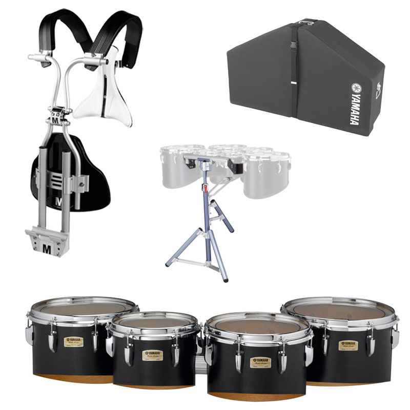 "Yamaha 8-10-12-13"" 8300 Field-Corps Marching Tenors with BiPosto Carrier, Case, and Stand"