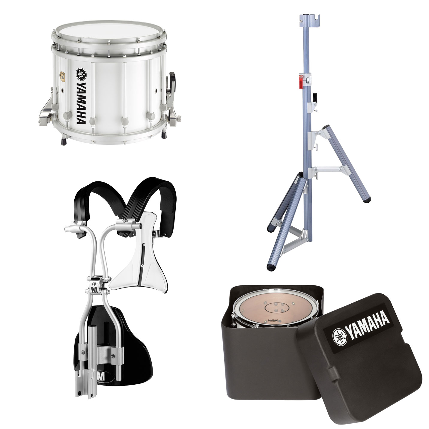 yamaha 13 x 11 9300 sfz marching snare drum with monoposto carrier case and stand ms 9313awcsh. Black Bedroom Furniture Sets. Home Design Ideas