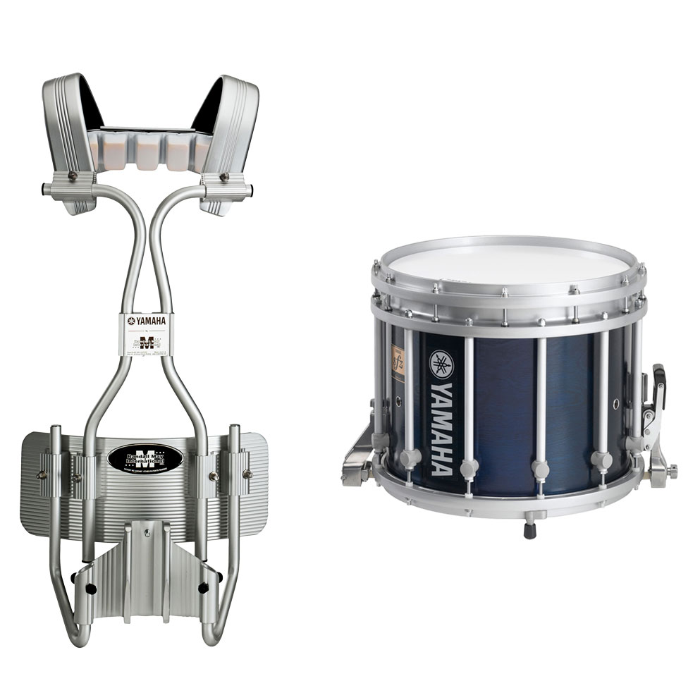 yamaha 14 x 12 9300 sfz marching snare drum with tube carrier ms 9314f. Black Bedroom Furniture Sets. Home Design Ideas