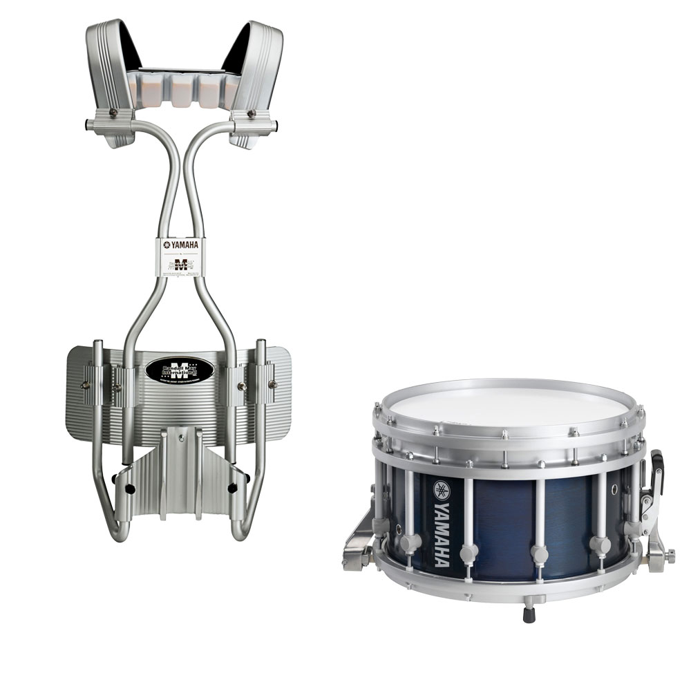 "Yamaha 14"" (Diameter) x 9"" (Deep) 9300 SFZ Piccolo Marching Snare Drum with Tube Carrier"