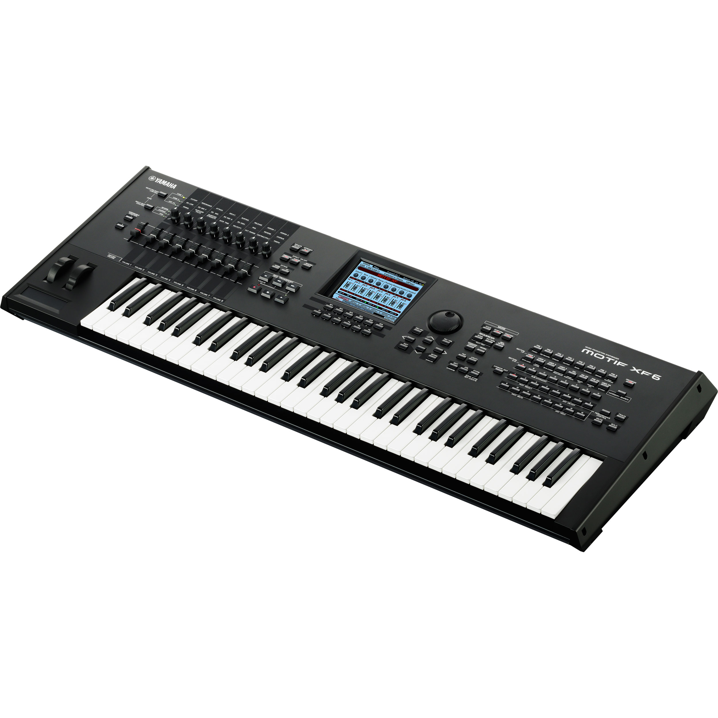 yamaha motif xf6 synthesizer keyboard workstation motifxf6