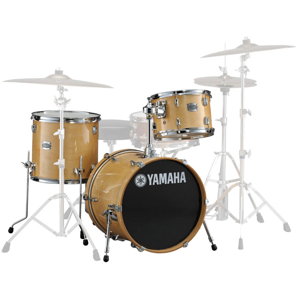 yamaha stage custom 3 piece rock drum set shell pack 24
