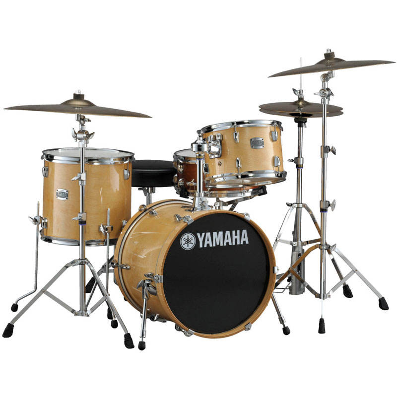 yamaha stage custom 3 piece bebop drum set shell pack 18
