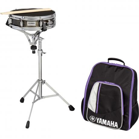 Yamaha student snare drum kit with backpack style bag for Yamaha student bell kit with backpack and rolling cart