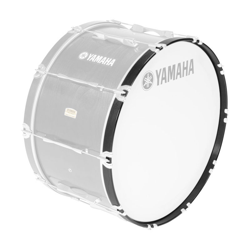 """Yamaha 14"""" 8300 Series Marching Bass Drum Hoop in Black Forest"""