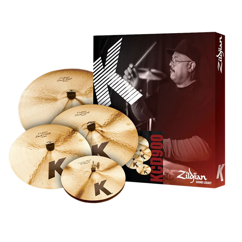Zildjian K Custom Dark 4-Piece Cymbal Box Set (Hi Hats, Crash, Ride, FREE Crash)