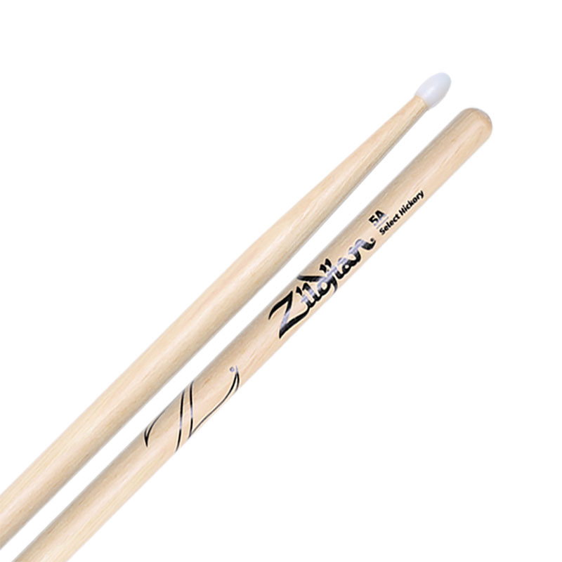 Zildjian Select Hickory Nylon Tip 5A Drumsticks
