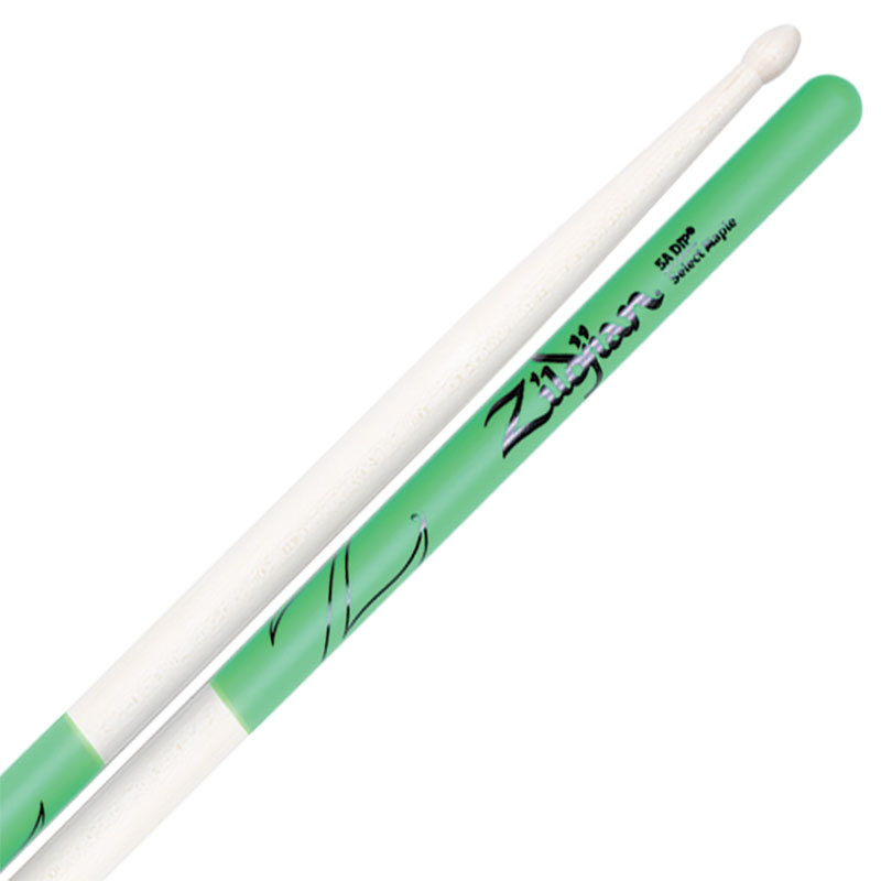 Zildjian Select Maple 5A Green DIP Drumsticks