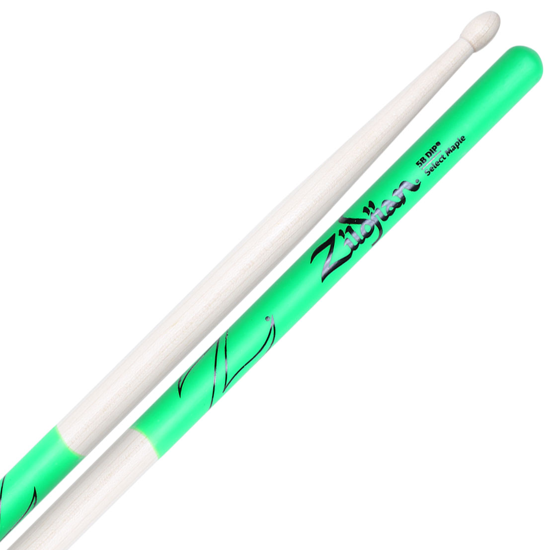 Zildjian Select Maple 5B Green DIP Drumsticks