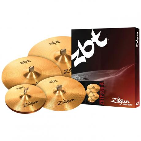 Zildjian ZBT 4-Piece Cymbal Box Set (Hi Hats, Crash, Ride, FREE Crash)